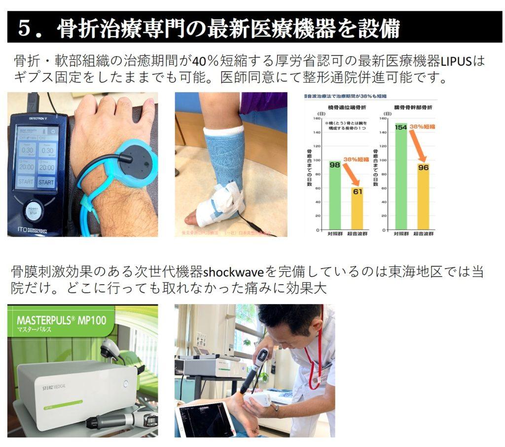 骨折治療専門の最新医療機器を設備