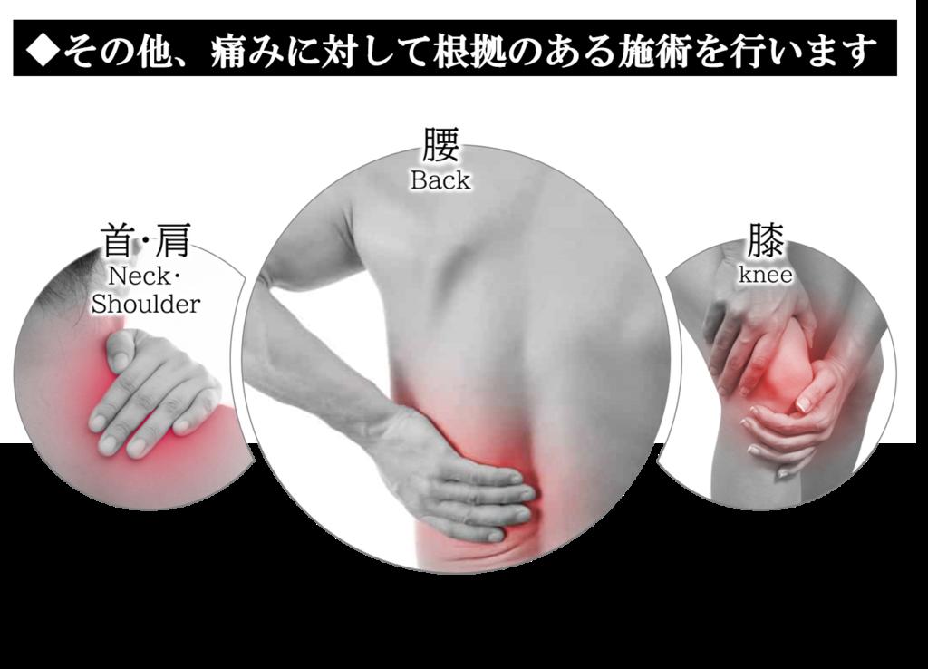 その他、痛みに対して根拠のある施術を行います。